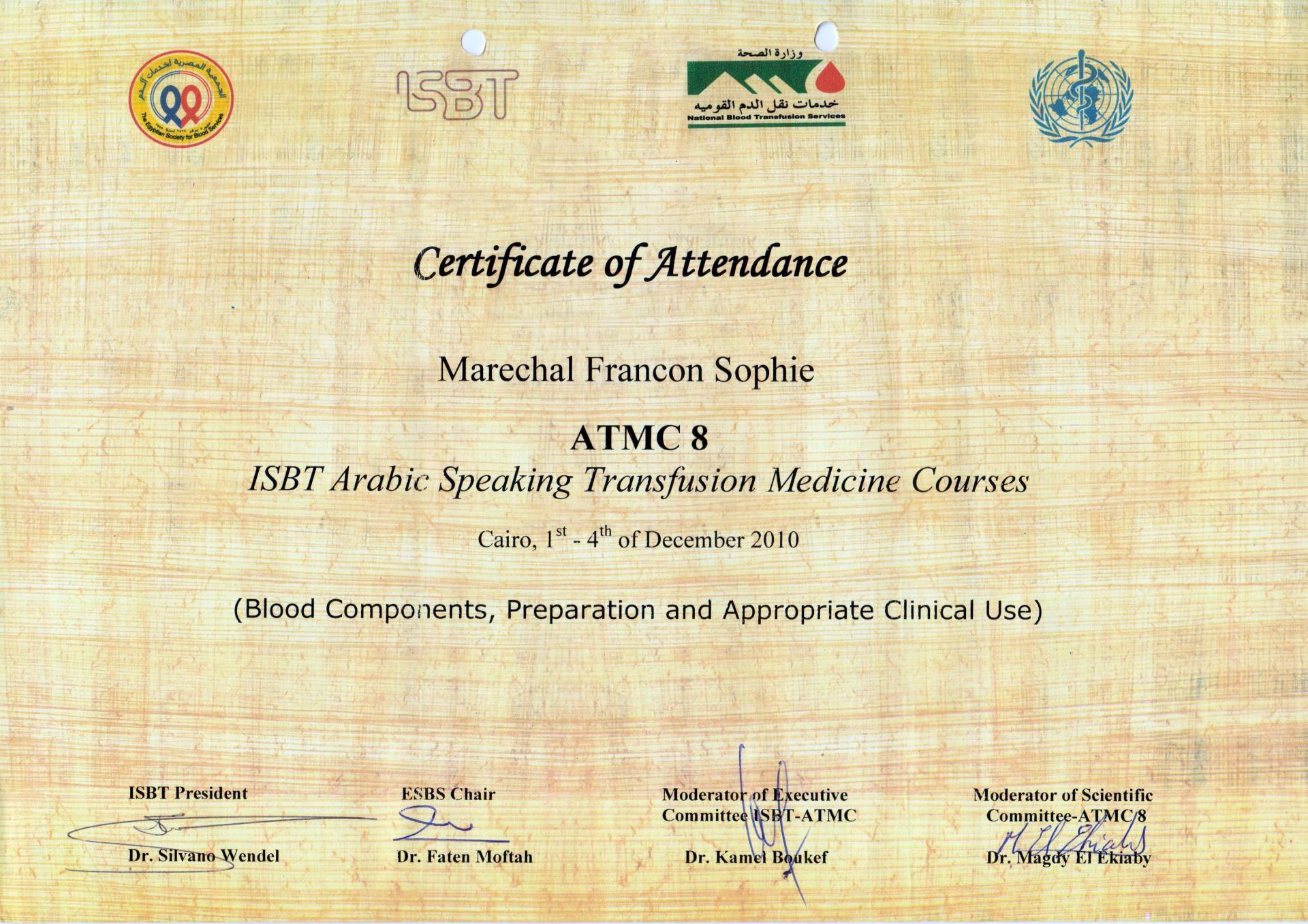 Certif attendance atmc8 cairo 001