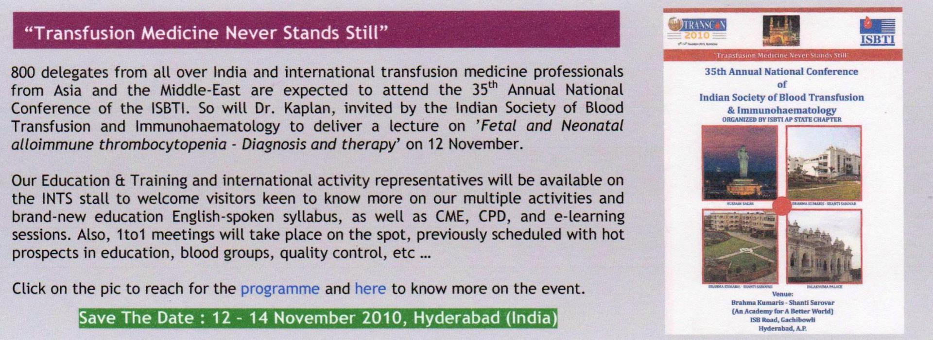 Isbti hyderabad newsletter article